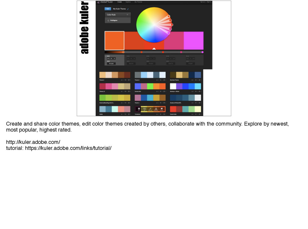 adobe kuler Create and share color themes, edit...