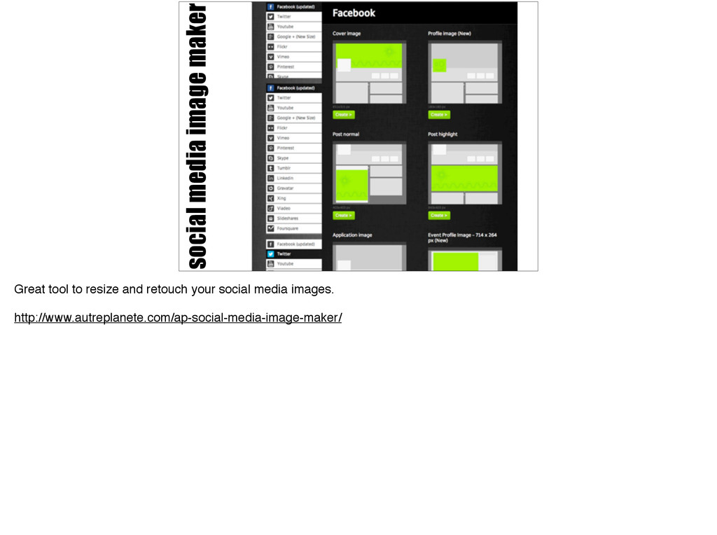 social media image maker Great tool to resize a...