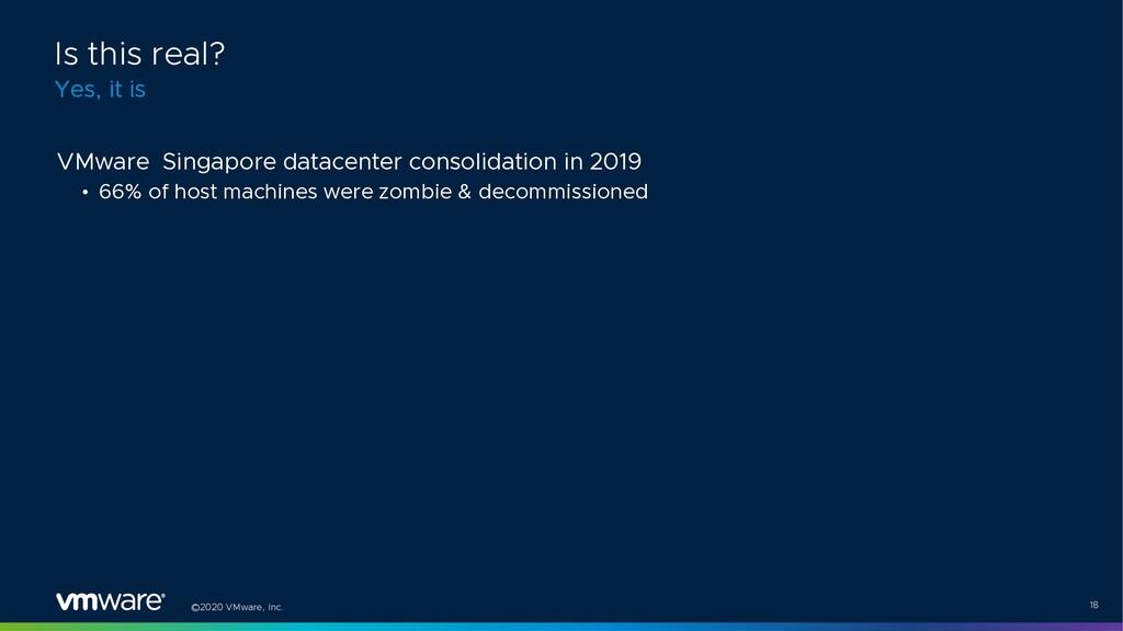 ©2020 VMware, Inc. 18 VMware Singapore datacent...