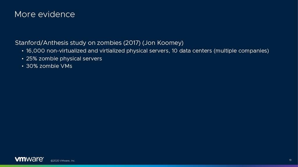 ©2020 VMware, Inc. 19 Stanford/Anthesis study o...