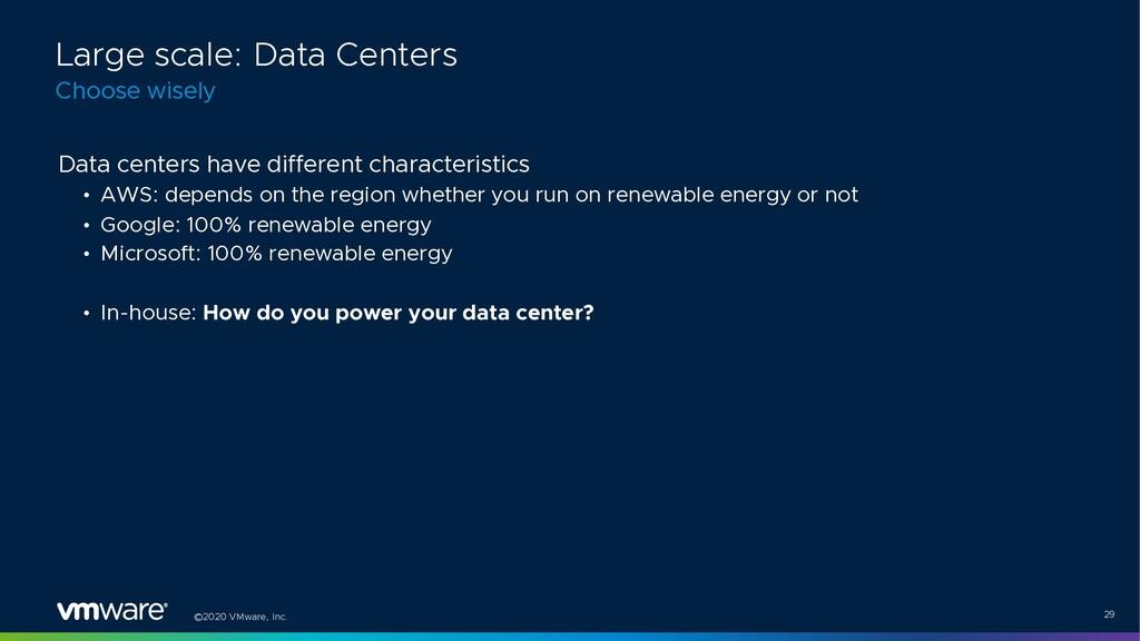 ©2020 VMware, Inc. 29 Data centers have differe...