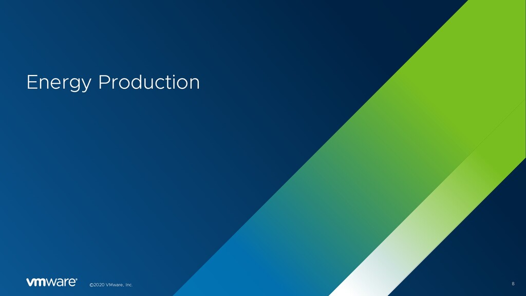 8 ©2020 VMware, Inc. Energy Production