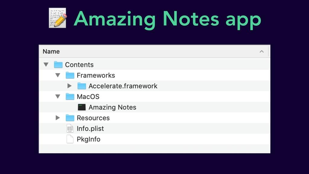 Amazing Notes app