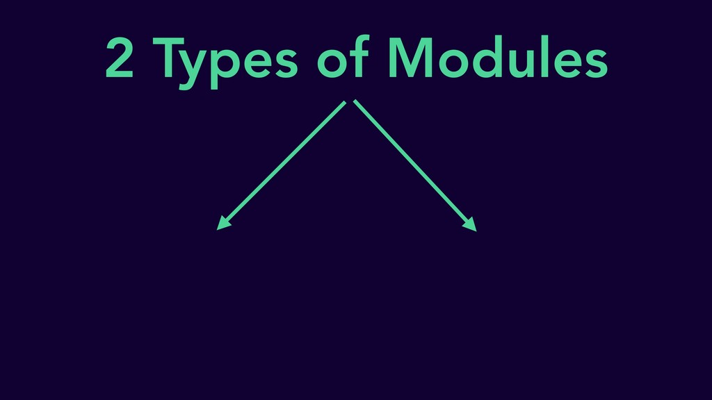2 Types of Modules