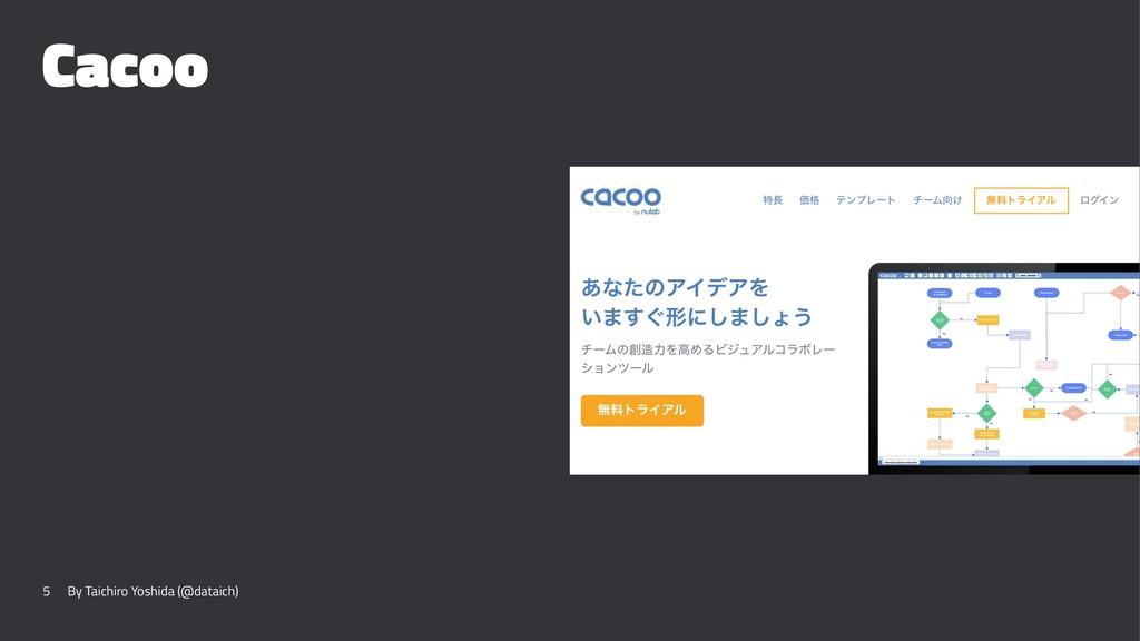 Cacoo 5 By Taichiro Yoshida (@dataich)