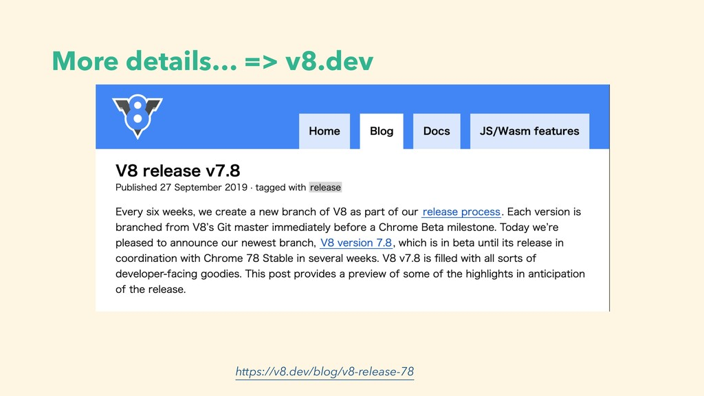 https://v8.dev/blog/v8-release-78 More details…...