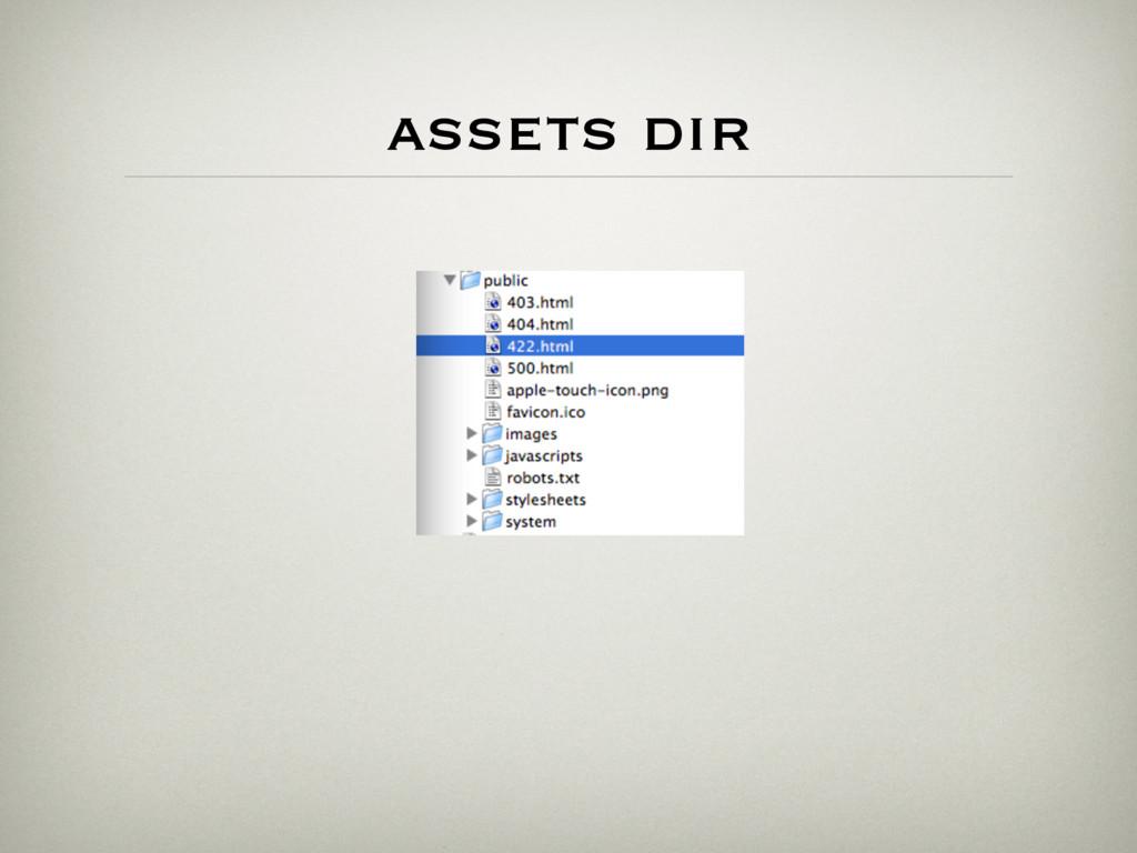 assets dir