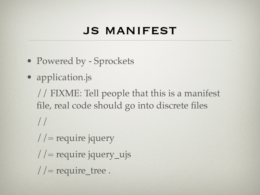 js manifest • Powered by - Sprockets • applicat...