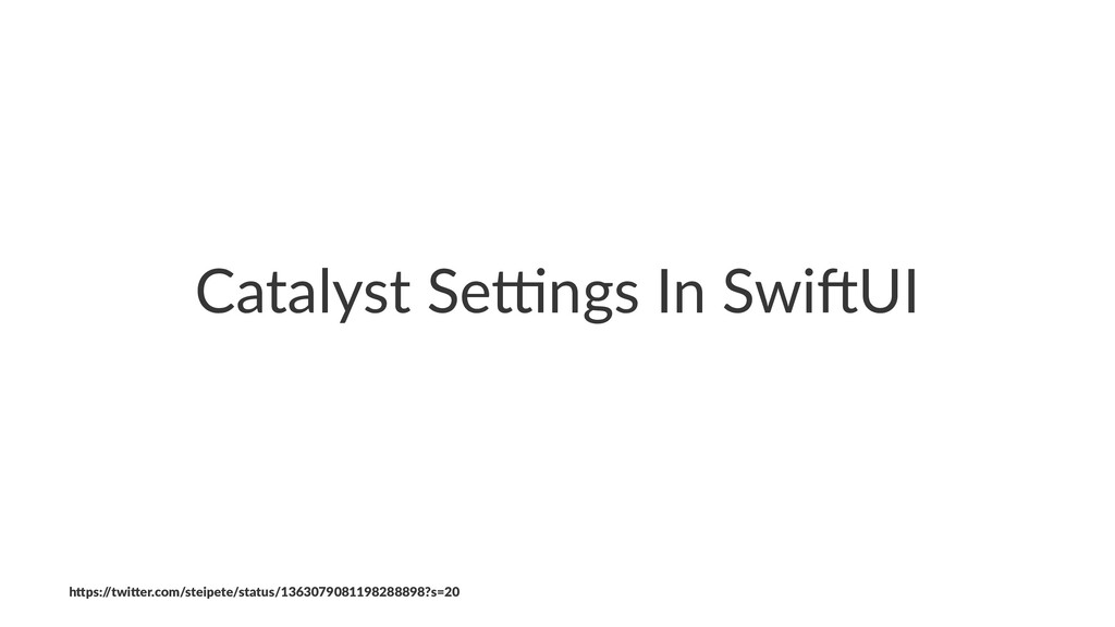 """Catalyst Se*ngs In Swi0UI h""""ps:/ /twi""""er.com/st..."""