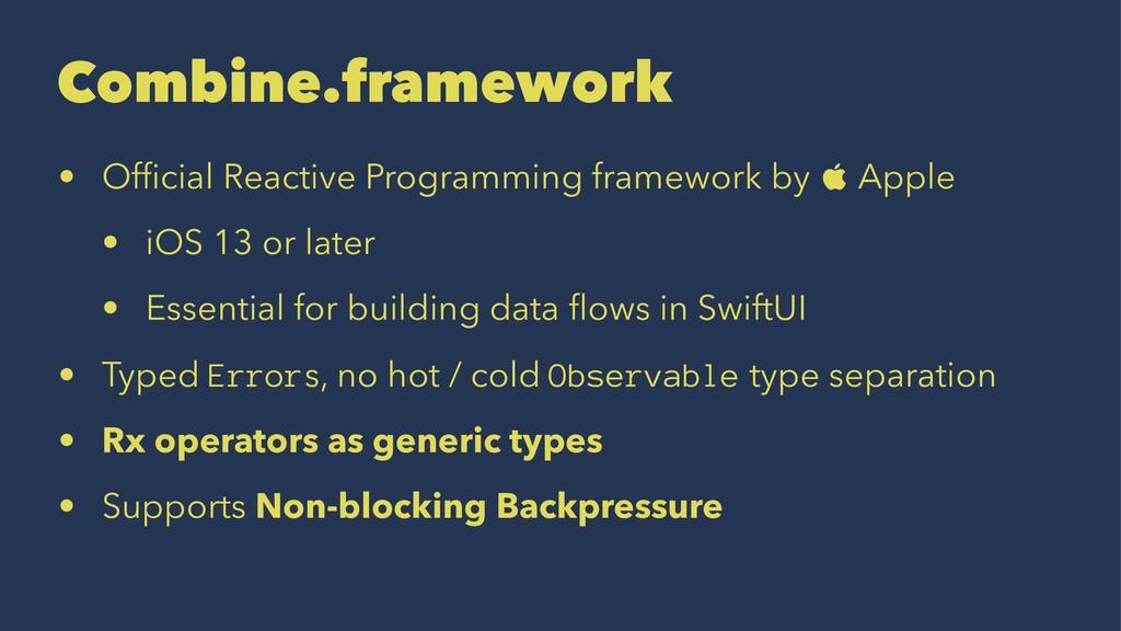 Combine.framework • Official Reactive Programmin...