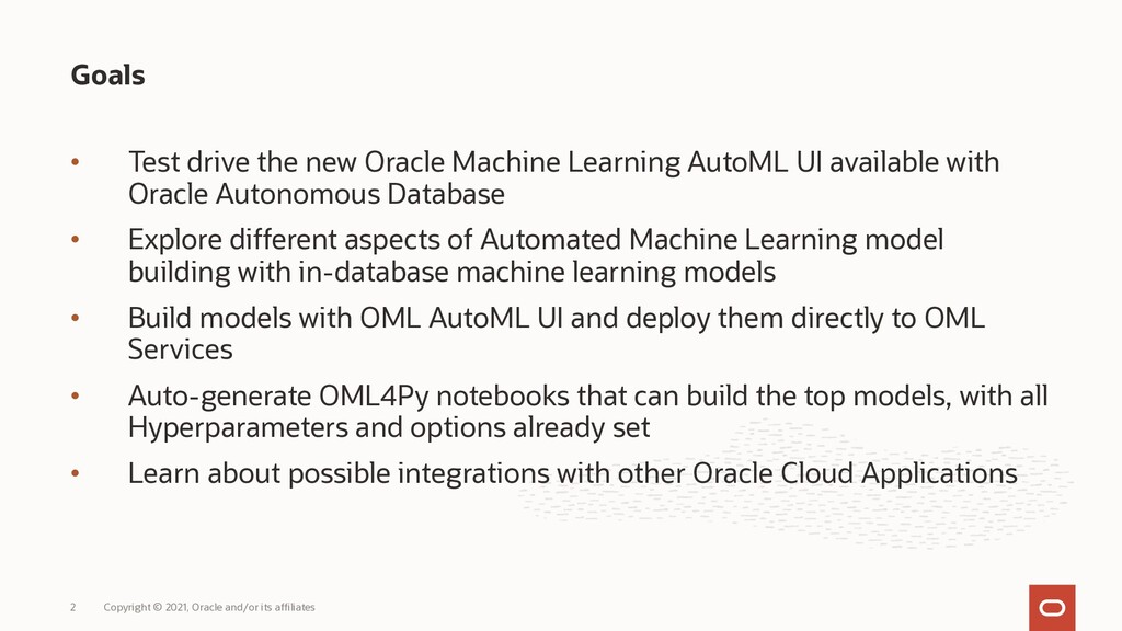 • Test drive the new Oracle Machine Learning Au...