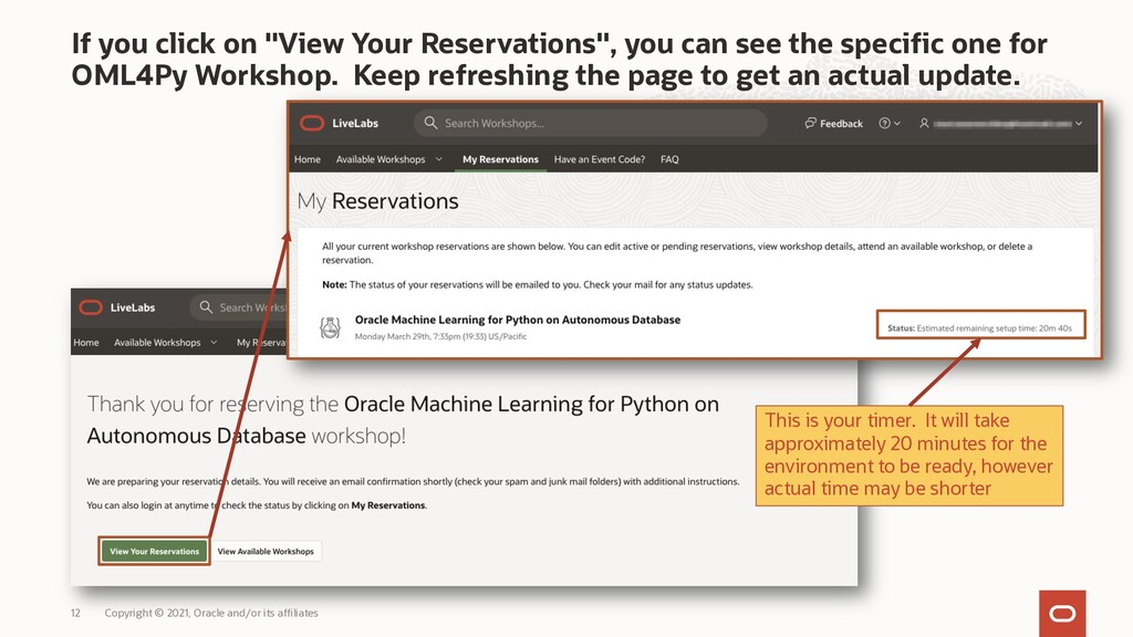 """If you click on """"View Your Reservations"""", you c..."""