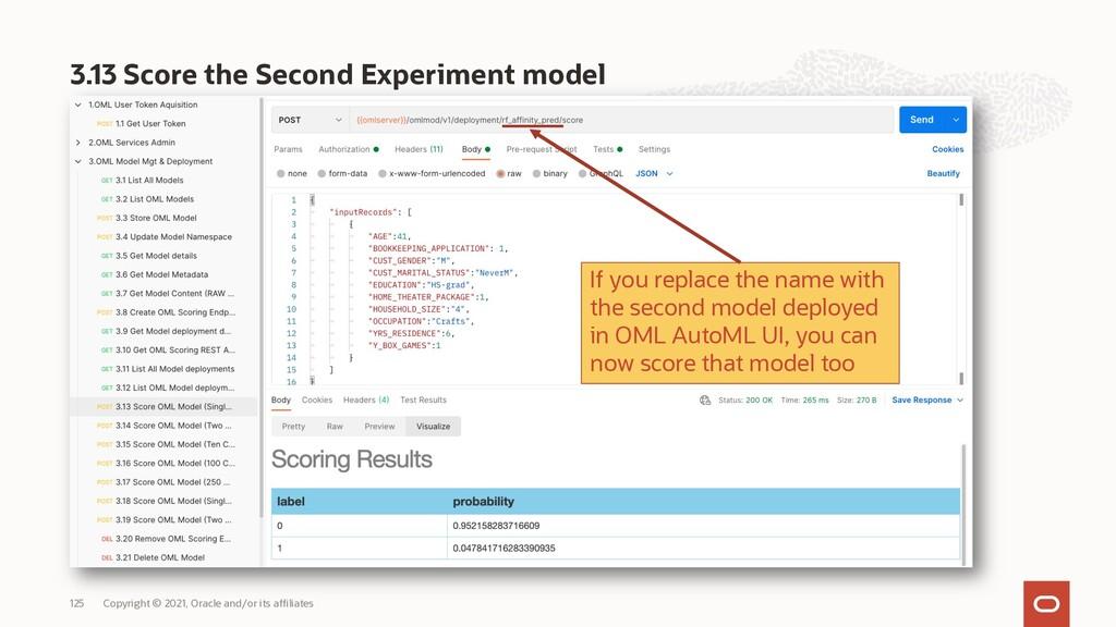 3.13 Score the Second Experiment model Copyrigh...