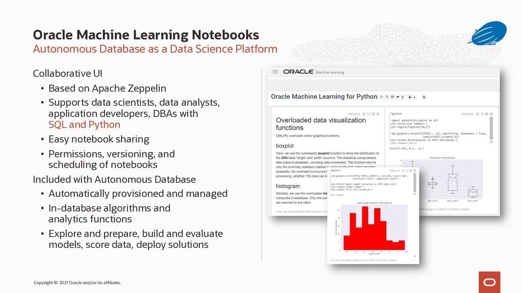 Autonomous Database as a Data Science Platform ...