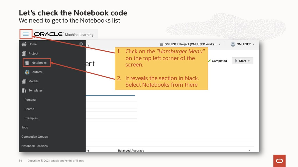 Let's check the Notebook code We need to get to...
