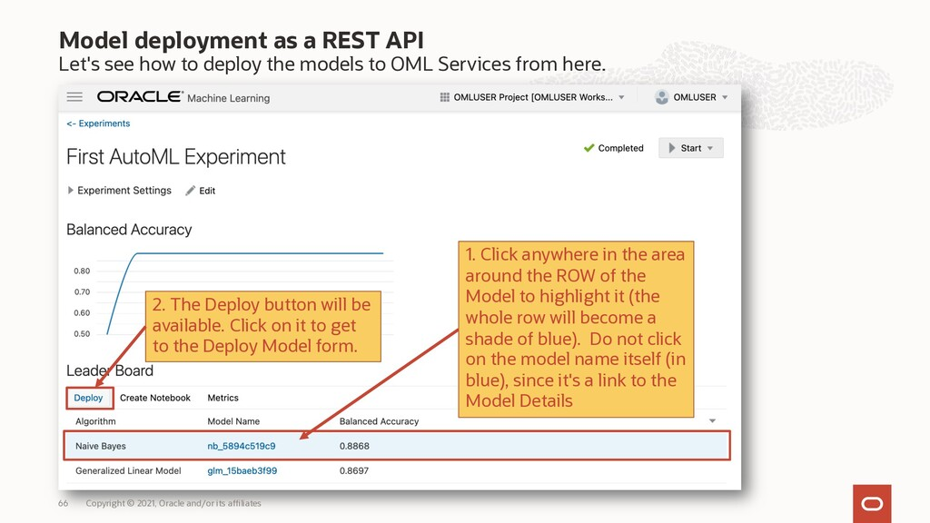 Model deployment as a REST API Let's see how to...