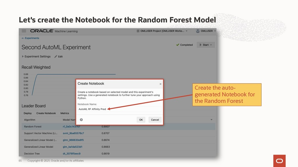 Let's create the Notebook for the Random Forest...