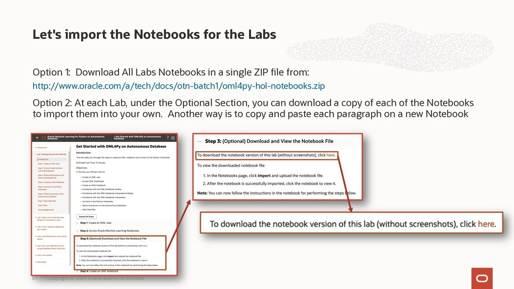 Option 1: Download All Labs Notebooks in a sing...