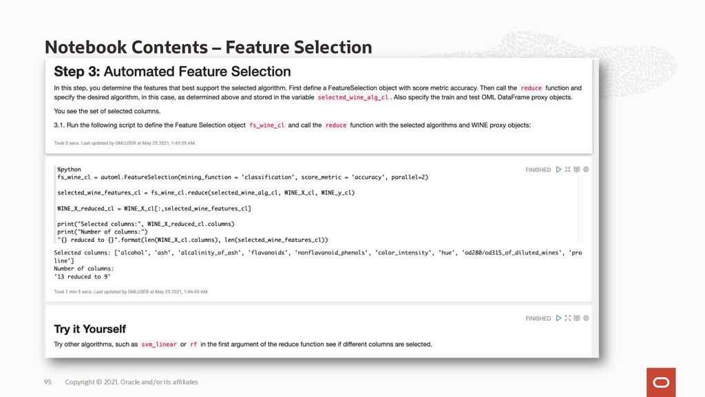 Notebook Contents – Feature Selection Copyright...