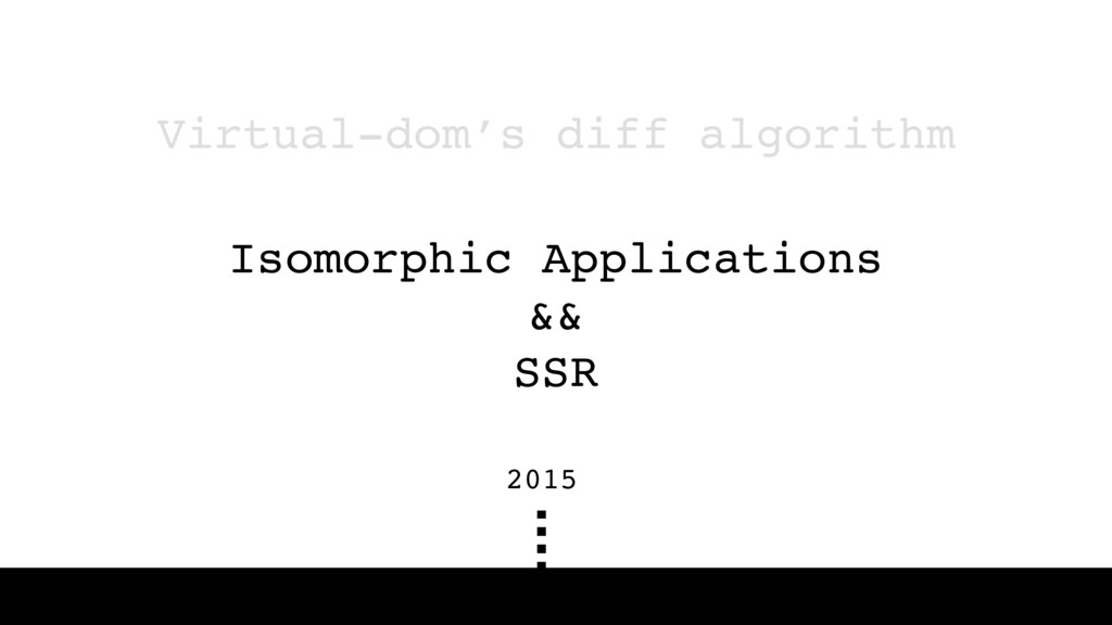 Isomorphic Applications && SSR Virtual-dom's di...