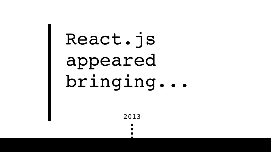 React.js appeared bringing... 2013