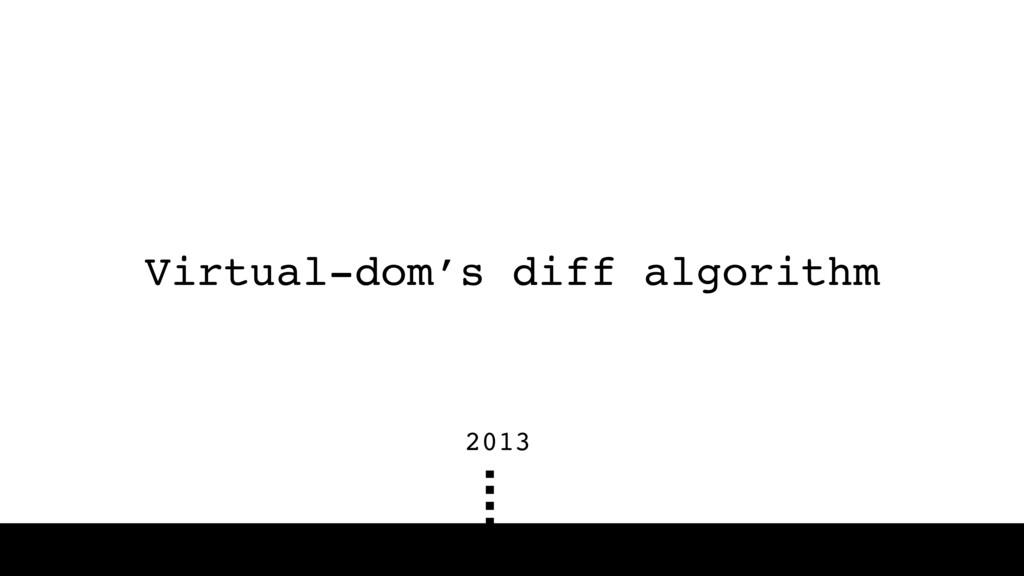 Virtual-dom's diff algorithm 2013