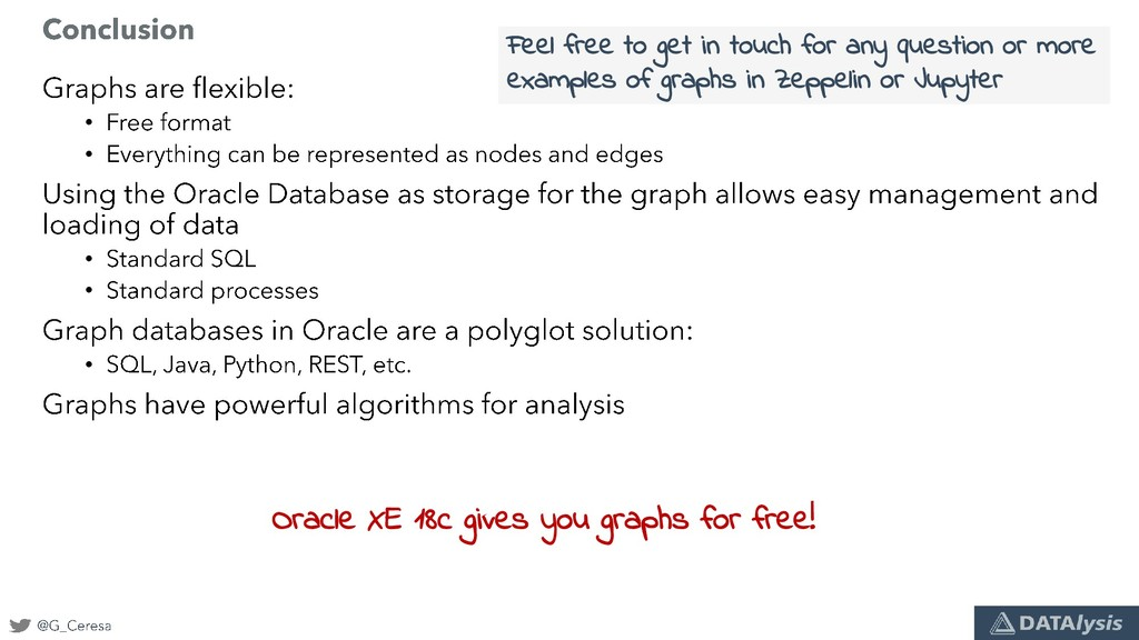 • • • • • Oracle XE 18c gives you graphs for fr...