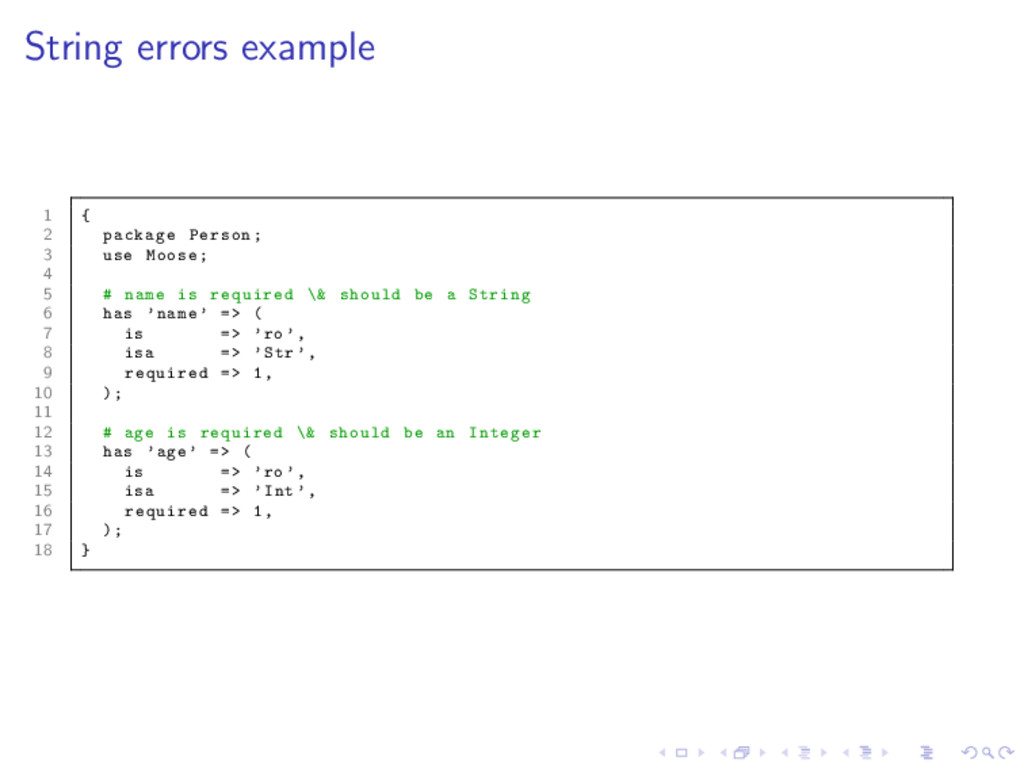 String errors example 1 { 2 package Person; 3 u...