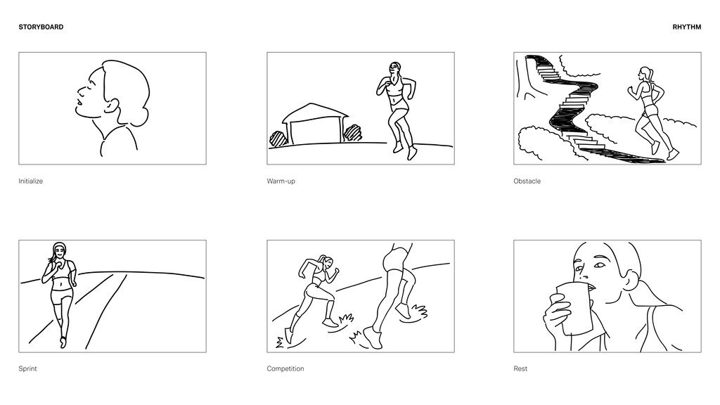 STORYBOARD Initialize Warm-up Obstacle Sprint C...