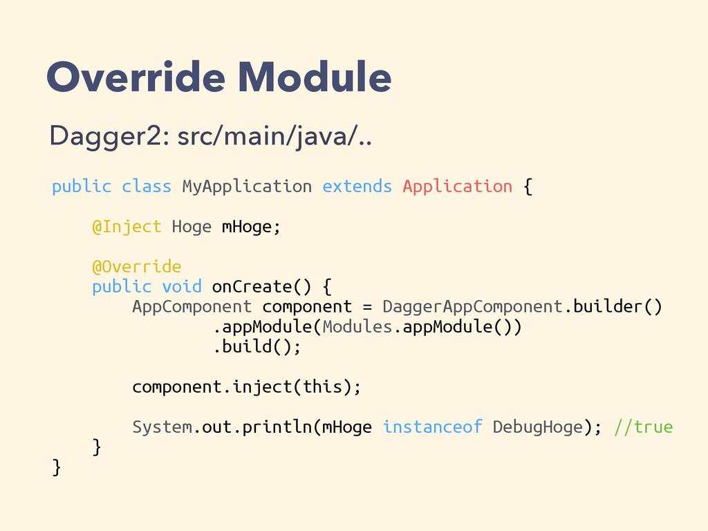 Override Module Dagger2: src/main/java/.. publi...