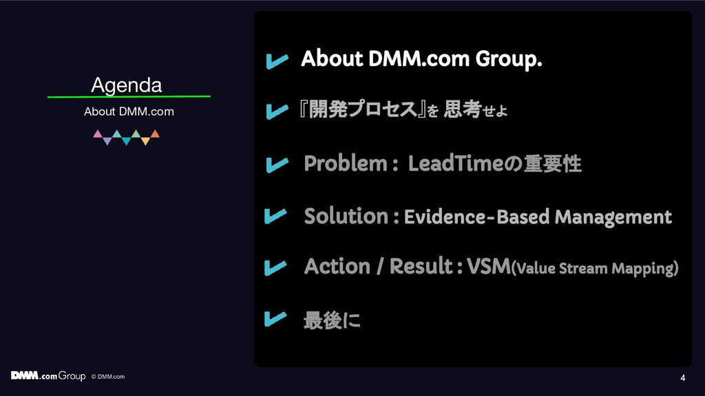 © DMM.com 4 Agenda About DMM.com About DMM.com ...
