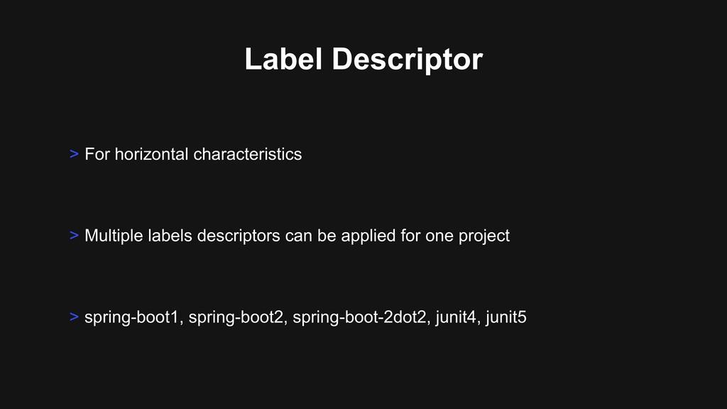 Label Descriptor > Multiple labels descriptors ...