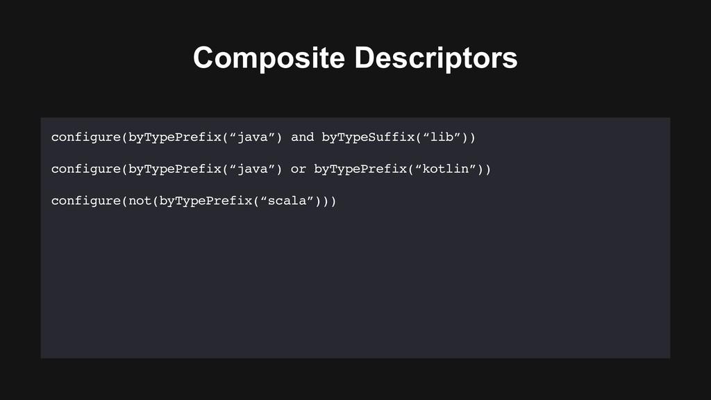 "Composite Descriptors configure(byTypePrefix(""j..."