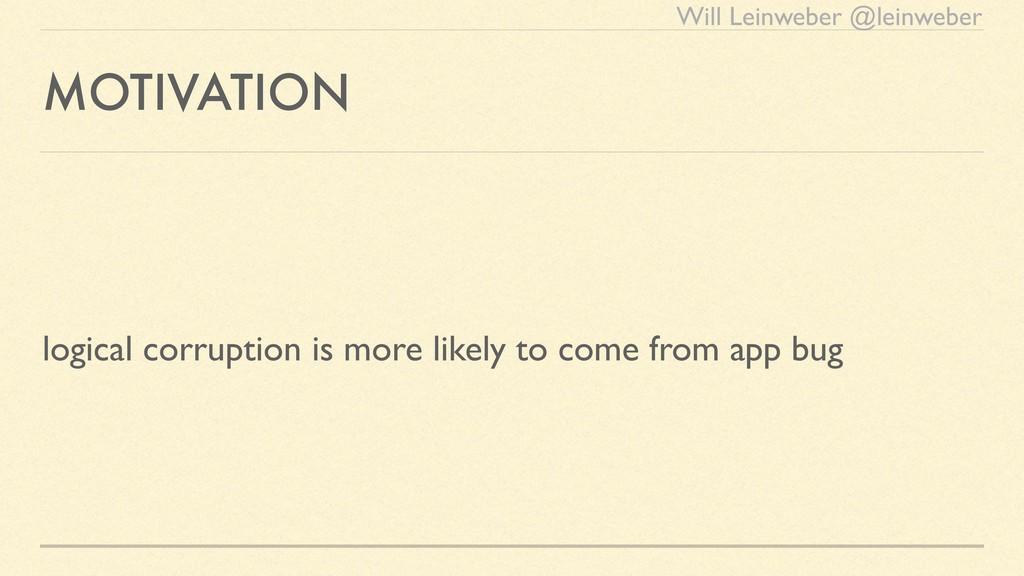Will Leinweber @leinweber MOTIVATION logical co...