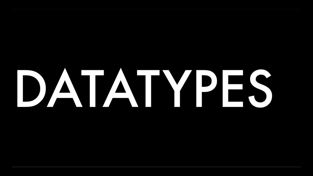 DATATYPES