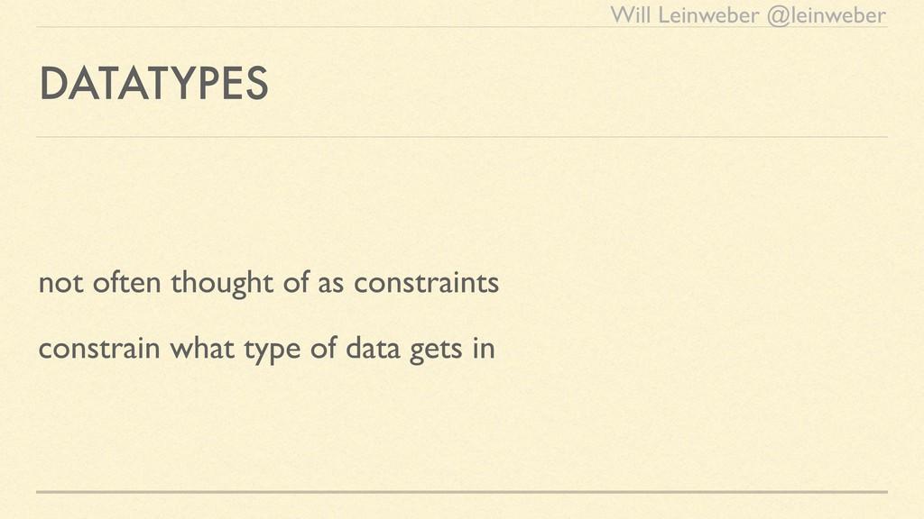 Will Leinweber @leinweber DATATYPES not often t...