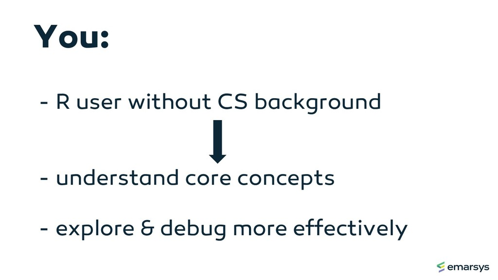 - R user without CS background - understand cor...