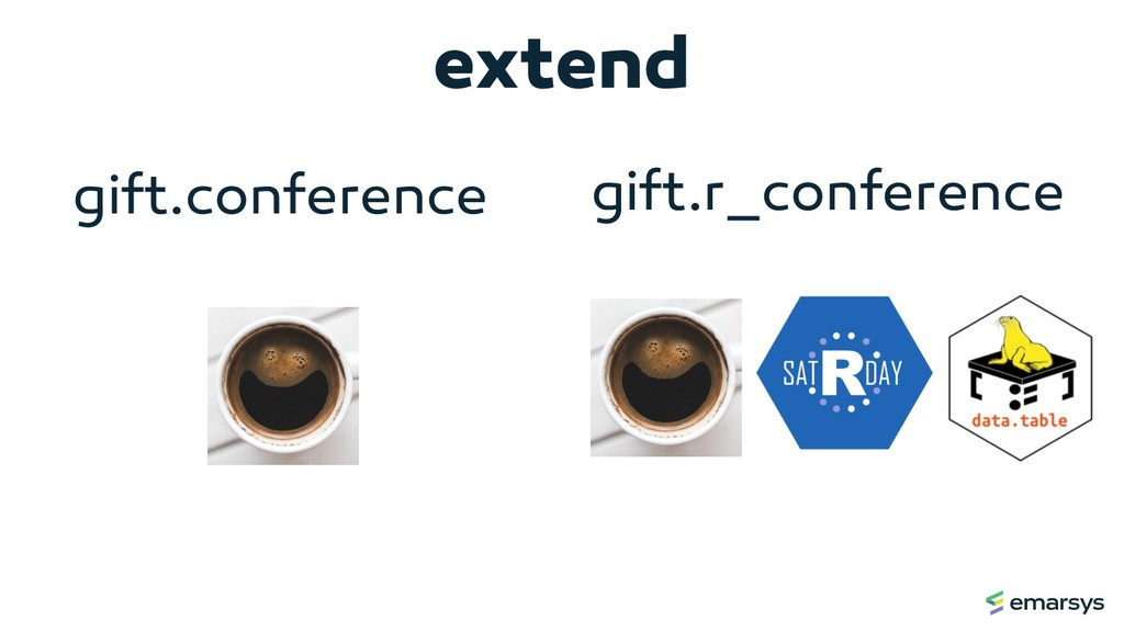 extend gift.conference gift.r_conference