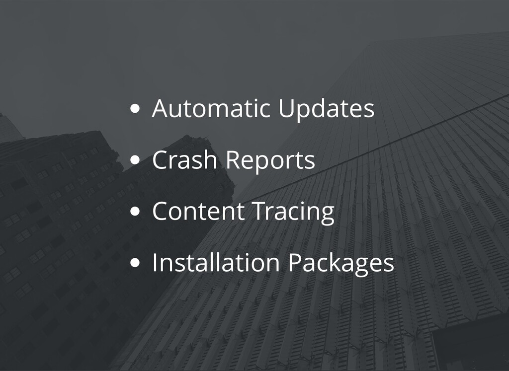 Automatic Updates Crash Reports Content Tracing...