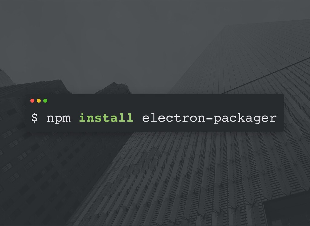 $ npm install electron-packager
