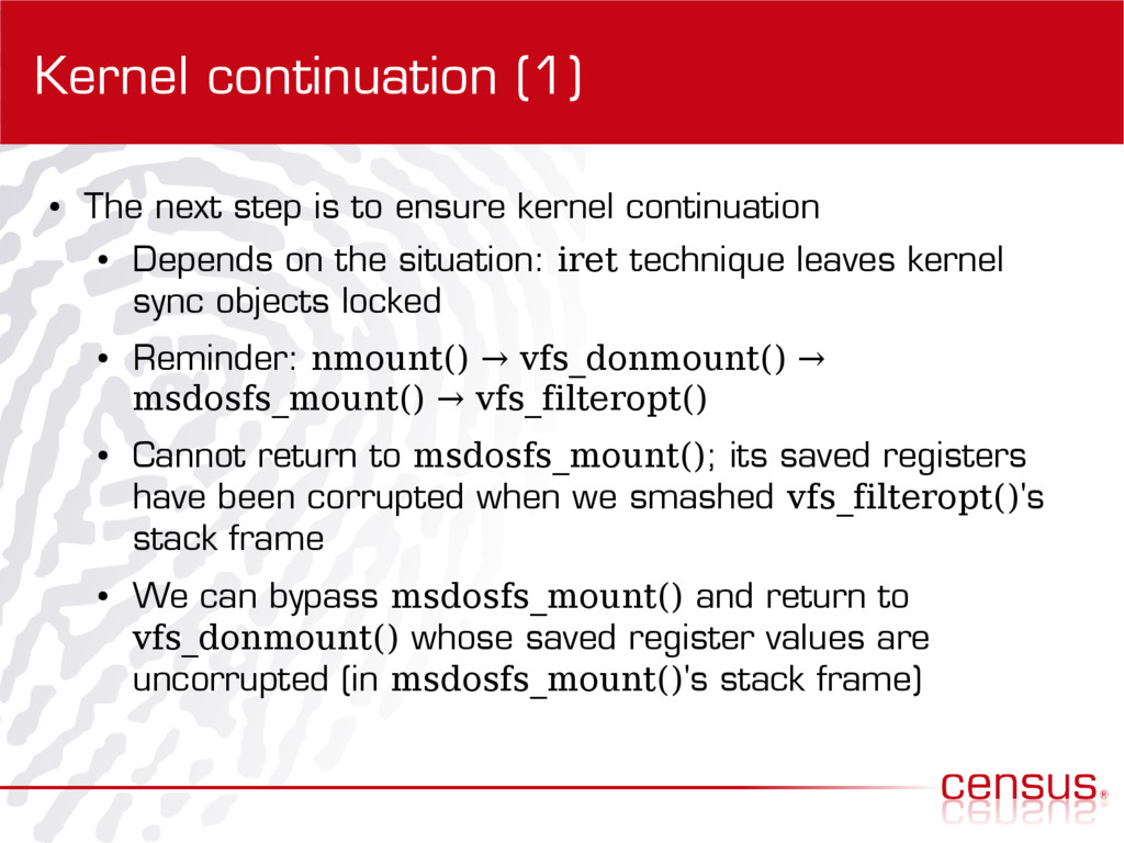 Kernel continuation (1) ● The next step is to e...