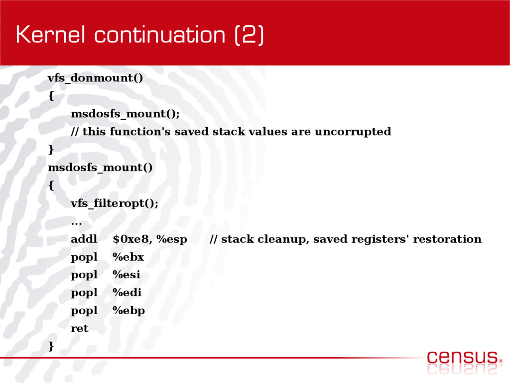Kernel continuation (2) vfs_donmount() { msdosf...
