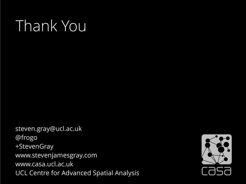 steven.gray@ucl.ac.uk @frogo +StevenGray www.st...