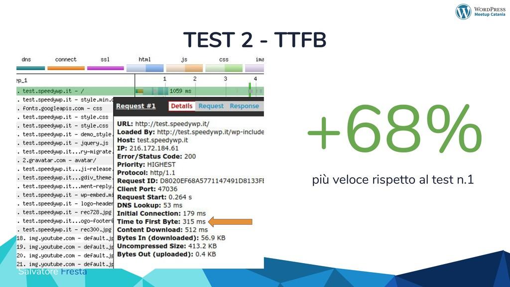 Salvatore Fresta TEST 2 - TTFB +68% più veloce ...
