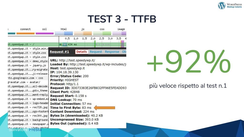 Salvatore Fresta TEST 3 - TTFB +92% più veloce ...