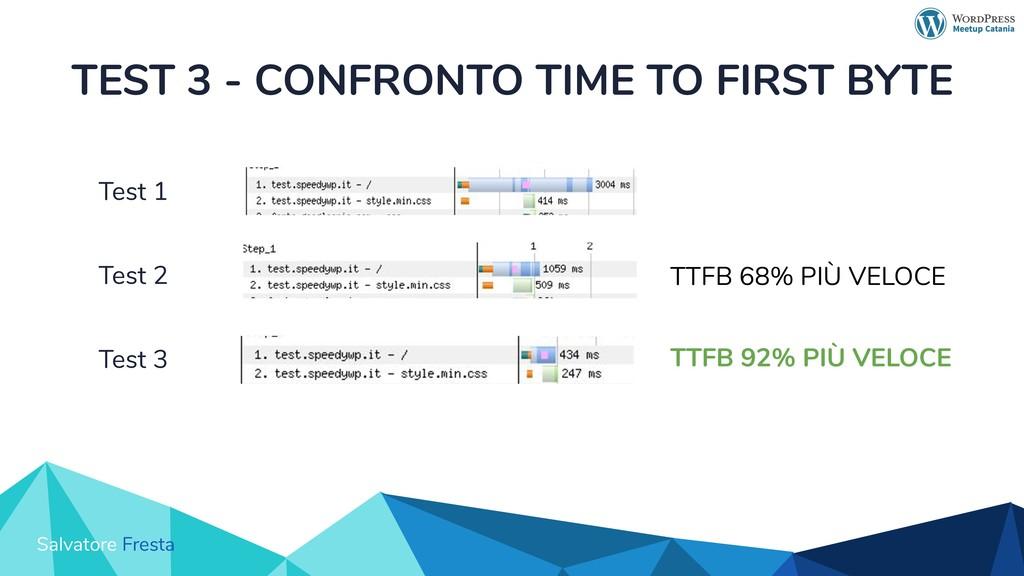 Salvatore Fresta TEST 3 - CONFRONTO TIME TO FIR...