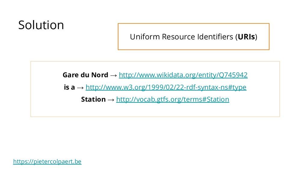 https://pietercolpaert.be Solution Gare du Nord...