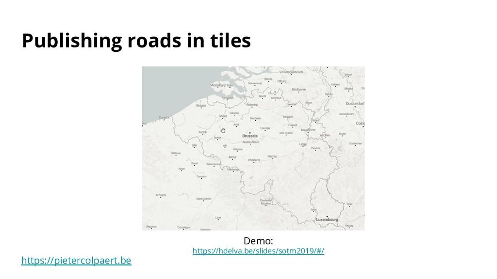 https://pietercolpaert.be Publishing roads in t...