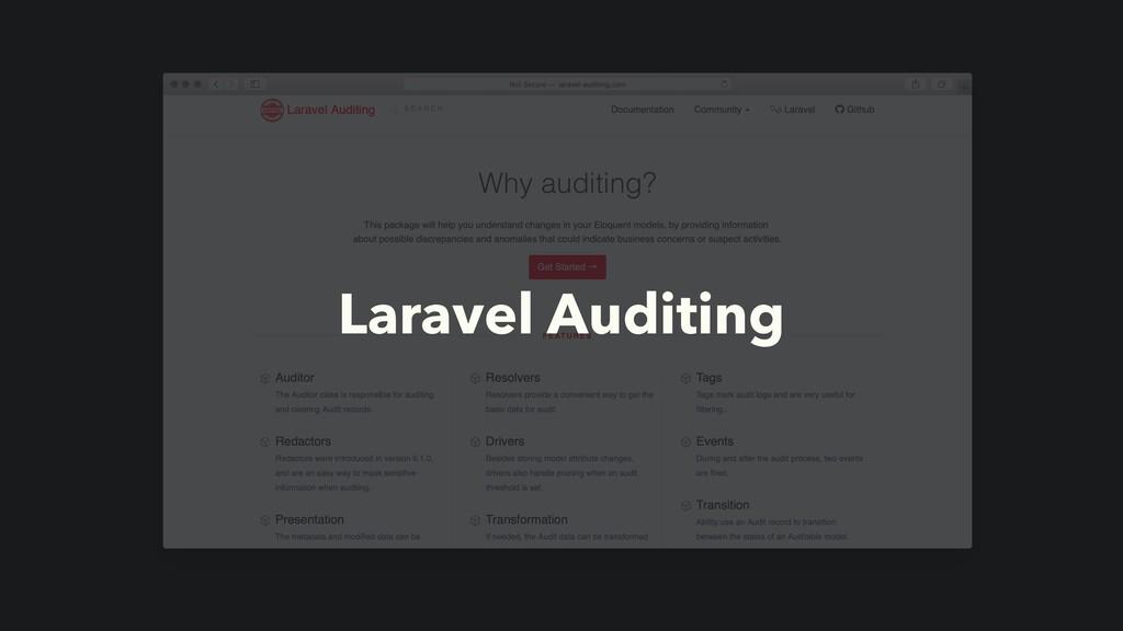 Laravel Auditing