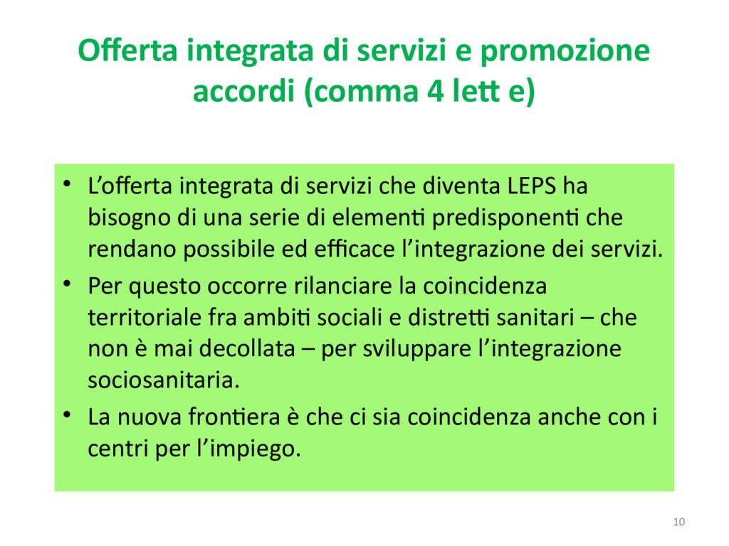10 Offerta integrata di servizi e promozione ac...